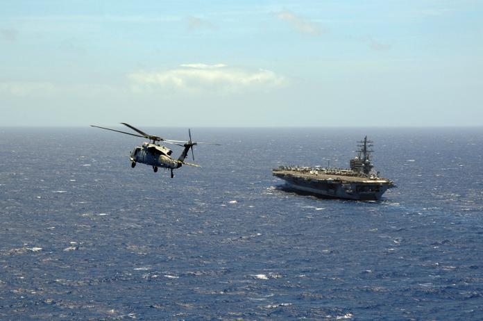 ▲美參議院通過國防預算授權法案,邀請台灣參與軍演。圖為2014年環太平洋軍演場景。(圖/翻攝自美國海軍網站)