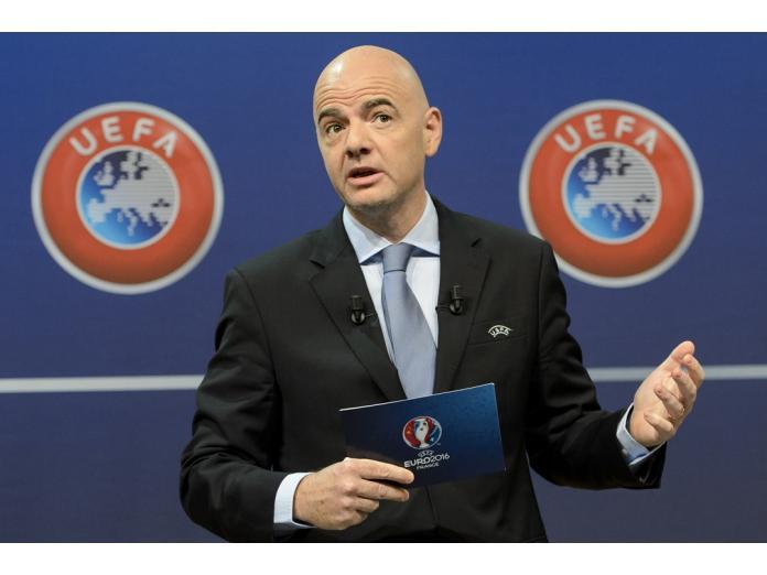 歐洲足聯秘書長Gianni Infantino宣布參選FIFA主席。(圖/美聯社/達志影像)