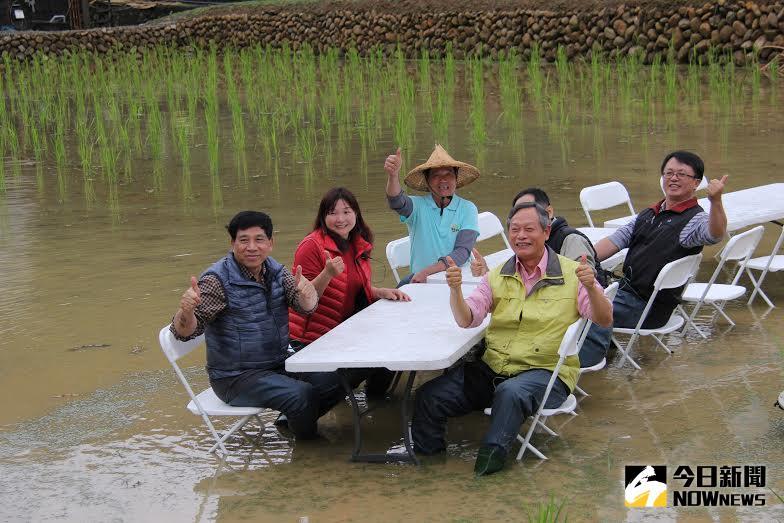 ▲稻田餐桌體會(右前1-林長立副局長)。(圖/公關提供)