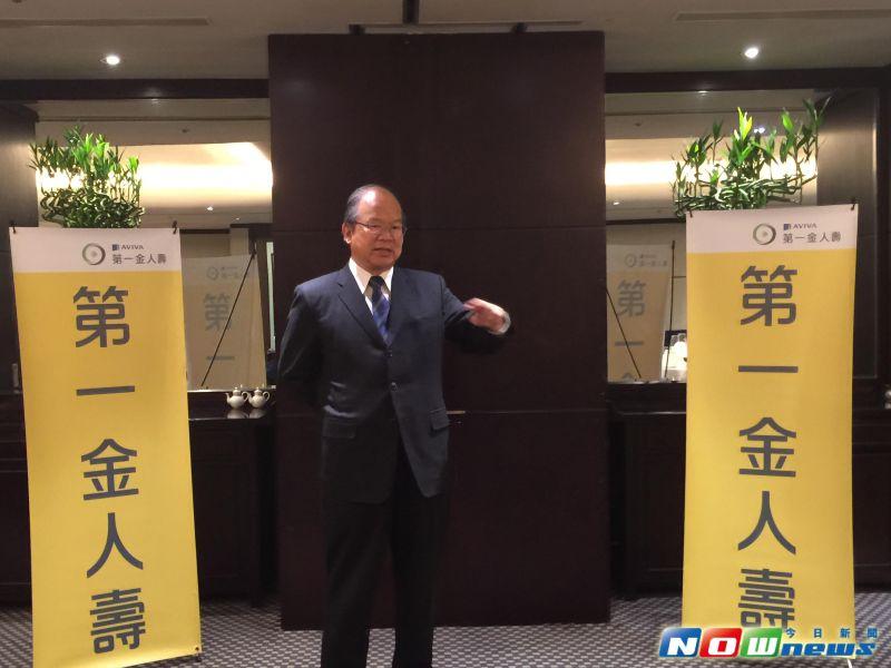 第一金人壽董事長簡明仁。(圖/記者顏真真攝,2015.6.11)