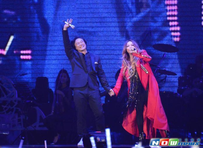 張惠妹《烏托邦世界巡城演唱會》DAY4嘉賓陳奕迅。(圖/記者林調遜攝影,2015.4.8)