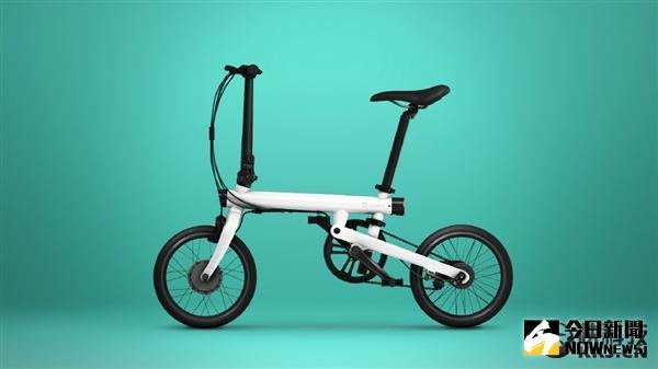 米家騎記電助力折疊自行車。