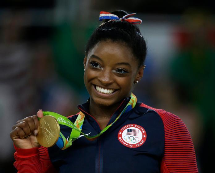 ▲美國「體操天后」Simone Biles克服心理壓力,重回東京奧運賽場,拿下平衡木銅牌。(圖/美聯社/達志影像)