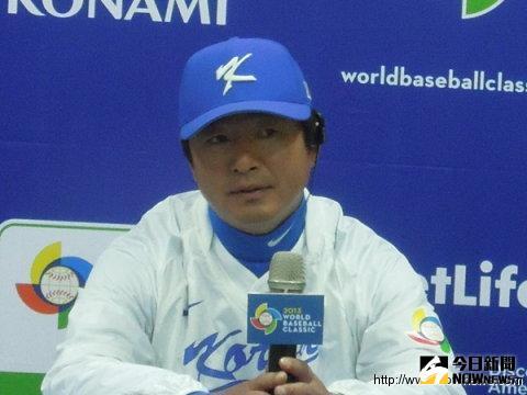 韓國隊監督柳仲逸。(圖/記者方正東攝影)