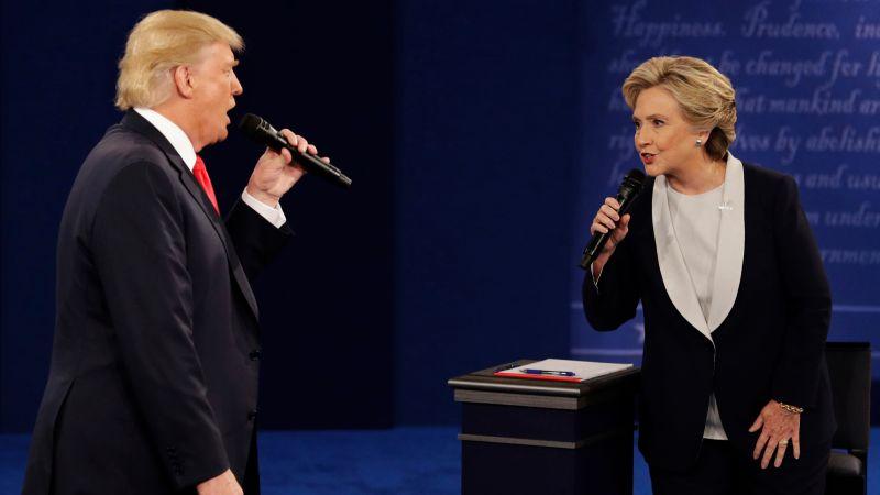 ▲歷經多次辯論後,希拉蕊及川普選戰走向白熱化。(圖/達志影像/美聯社)