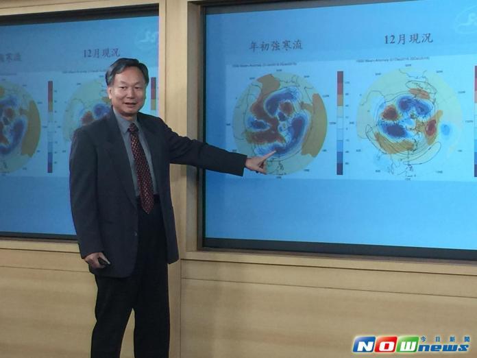 ▲氣象局預報中心主任鄭明典指出,今年全球均溫將創新高,台灣也有機會寫下新紀錄。(圖/記者陳致宇攝)