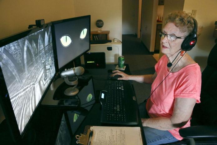 81歲的Shirley Curry是一位網紅遊戲主播。