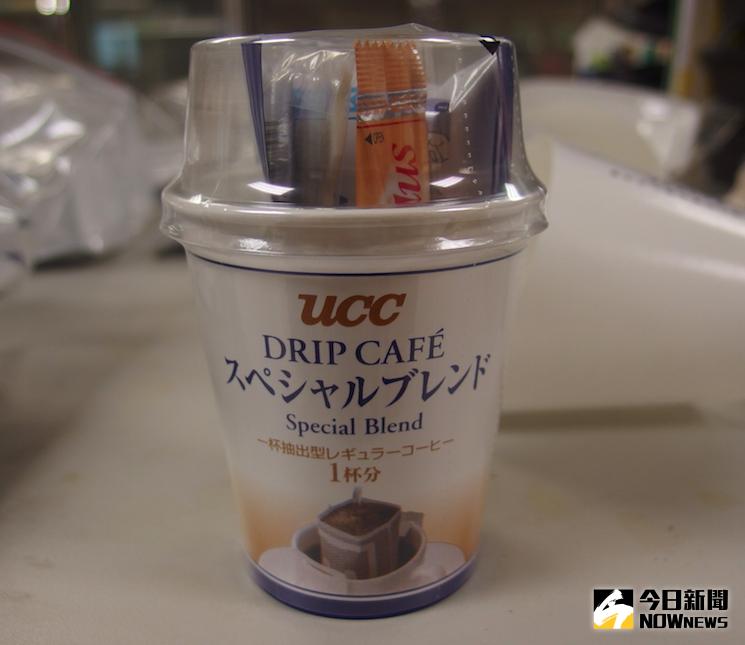 ▲「UCC濾掛式咖啡三合一杯組」被發現產品糖包來自櫪木縣製造。(圖/食藥署提供)