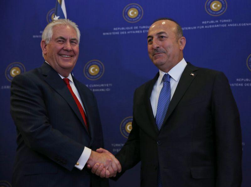 ▲美國國務卿提勒森(Rex Tillerson)於30日訪問土耳其,會晤土耳其外交部長。(圖/達志影像/美聯社)