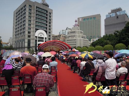 軒轅黃帝拜祖大典在台北中山堂廣場舉行。