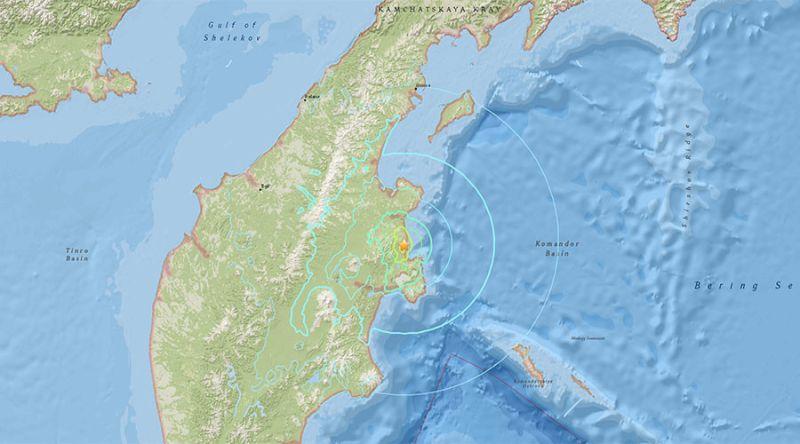 ▲俄羅斯遠東發生6.6強震。(圖/翻攝自美國地質調查所USGS官方網站)