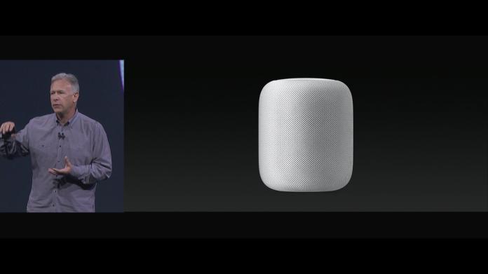 ▲蘋果語音助理裝置HomePod終於亮相。(圖/翻攝自WWDC直播)