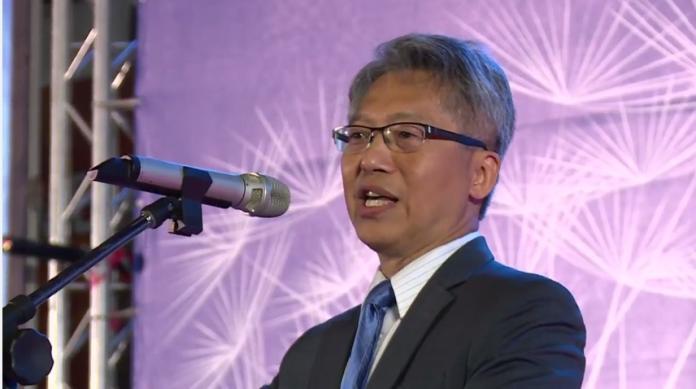 ▲中研院長廖俊智受邀於台科大畢典進行專題演講。(圖/翻攝自Youtube)