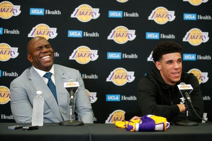 ▲Magic Johnson認為Lonzo Ball可以成為球隊的領導者。(圖/美聯社/達志影像)
