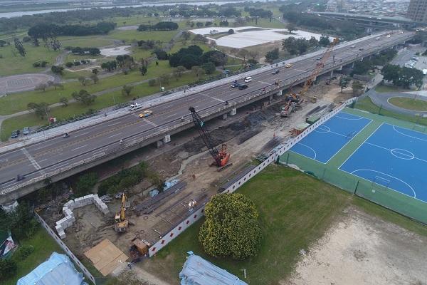 ▲華中橋周邊施工現況照片。(圖/台北市工務局新建工程處提供)