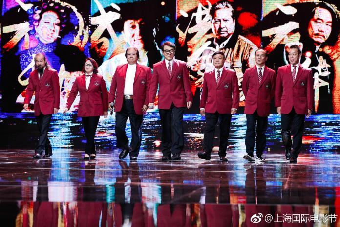 ▲七小福重現「成龍動作電影周之夜」。(圖╱翻攝上影節微博,2017.06.23)