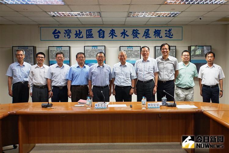 ▲台水公司與成功大學國際水質中心洽談新南向合作意願。(圖/台水提供)