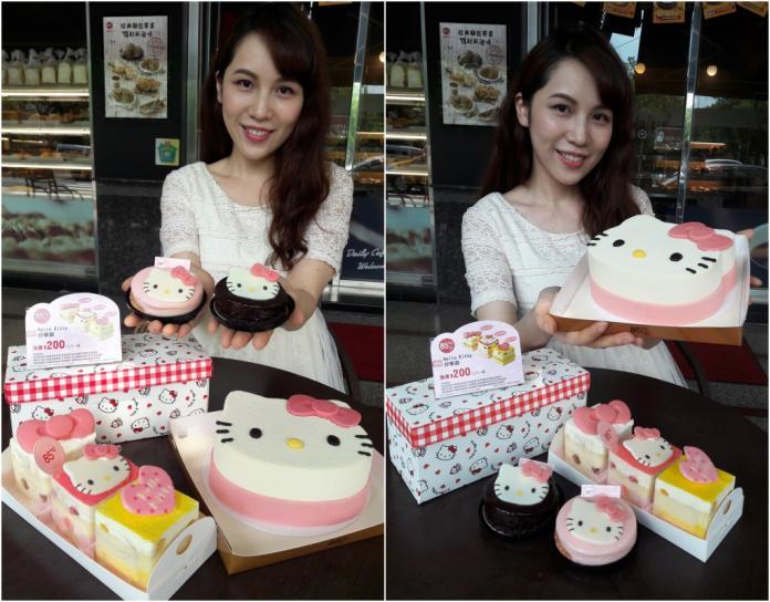 ▲85度C與Hello Kitty聯手,推出可愛大臉、盒裝分享還有片裝等3款蛋糕新品,全台限量23.5萬個。(圖/85度C提供)