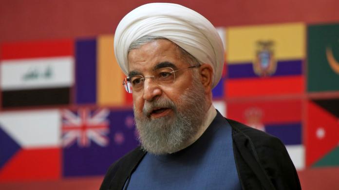 伊朗譴責美國採取無用的新制裁行動,並將以其人之道還治其人之身。圖為伊朗總統羅哈尼。(圖/達志影像/美聯社)