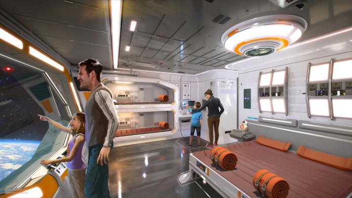 ▲迪士尼預計打造的沉浸式「星際大戰」旅館,住客不僅可在客房內,體驗「星際大戰」式居住氛圍,就連窗外的風景,都是外太空。(圖/翻攝自 TechCrunch,下同)