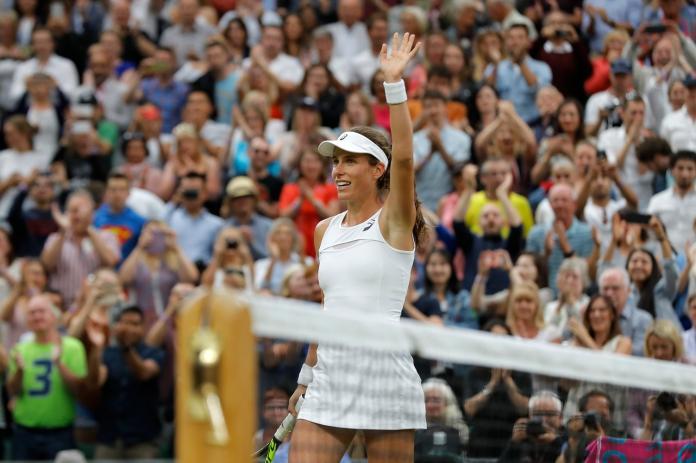 Johanna Konta成為1978年以來首位晉級溫網女單4強的英國選手。(圖/美聯社/達志影像)