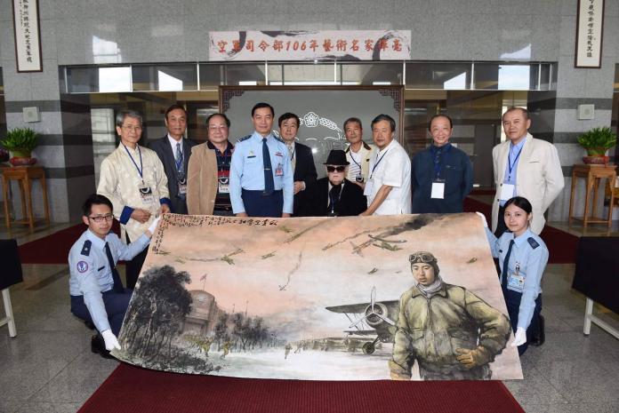 紀念七七抗戰 空軍司令部辦理藝術名家戰畫懸掛活動