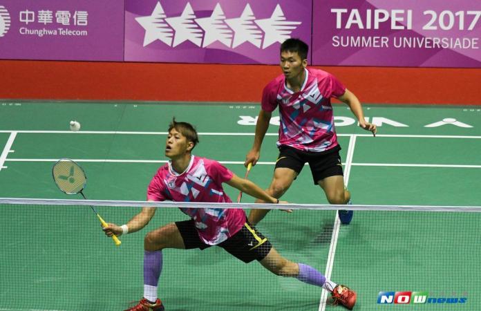 ▲世大運羽球男雙李洋(右)與李哲輝(左)。(圖/記者葉政勳攝 , 2017.08.25)