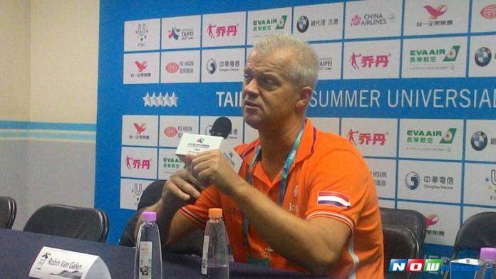荷蘭水球隊教練Robin van Galen。(圖/黃建霖攝)