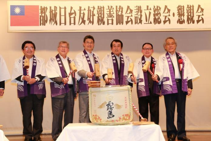 邱鏡淳參訪日本<b>宮崎縣</b> 都城台日友好親善協會懇親大會