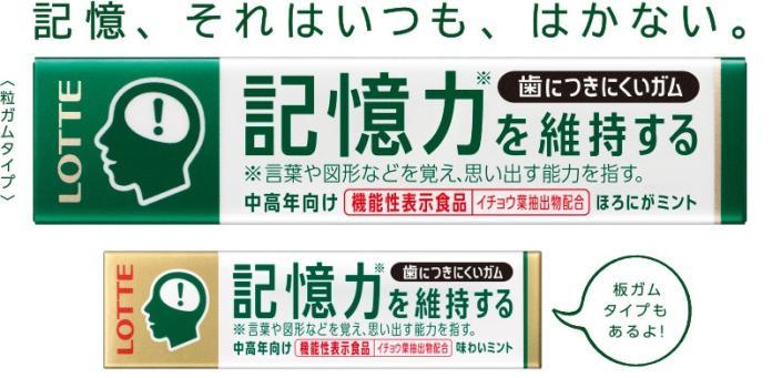 ▲日本樂天近來推出一款號稱可維持及增進記憶力的口香糖,引發討論。(圖/翻攝自日本樂天網站 , 2017.09.18)