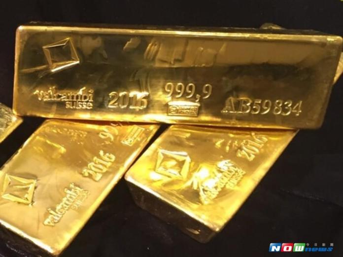 ▲黃金價格。(圖/記者顏真真攝 )