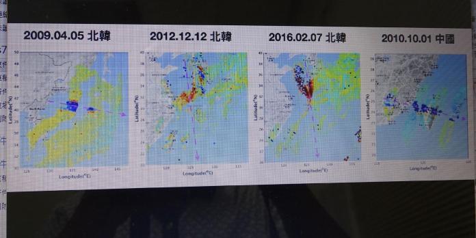 ▲成大團隊緊追北韓發射飛彈軌跡。(圖/成大提供,2017.09.15)