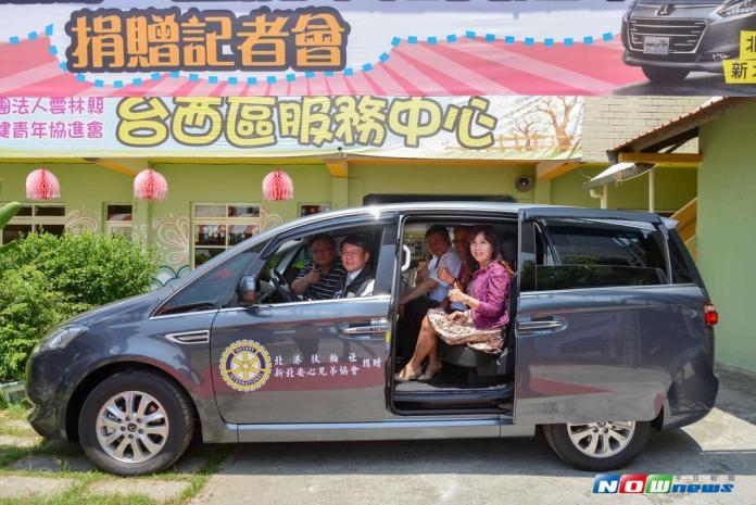 扶輪社社長愛心號召 捐贈交通車投入雲林海線身障者服務