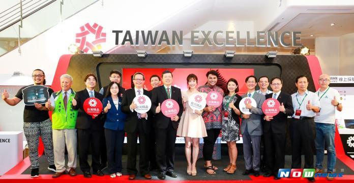 ▲\「台灣精品」代表台灣高品質產品的殿堂,得獎廠商代表一起合照。(圖/攝記者黃玉婷 , 2017.09.06)
