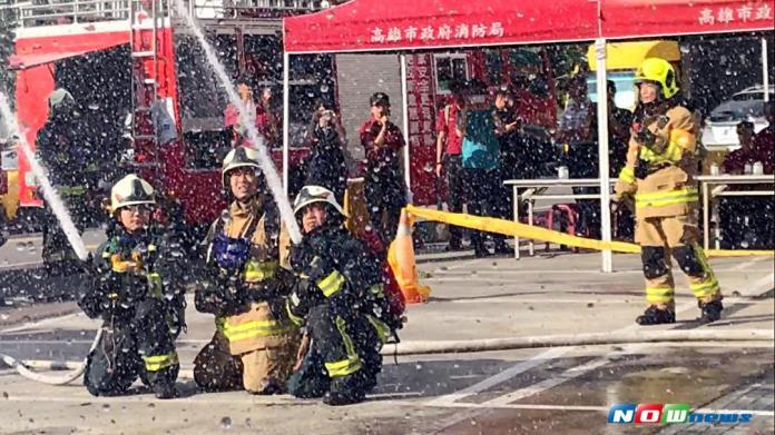 影/瓦斯洩漏起火 高市消防局搶救演練