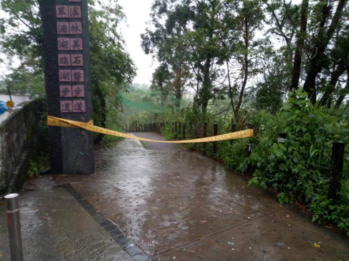 ▲受豪大雨影響,羅東林區管理處封閉部分轄內自然步道。(圖/記者李清貴翻攝 , 2017.09.02)