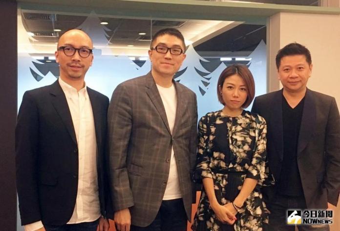 ▲華聯國際董事長謝國樑(左2)成為首位獲推薦入圍《安永企業家獎》的電影公司創辦人。(資料照/記者彭夢竺攝,2017.7.3)