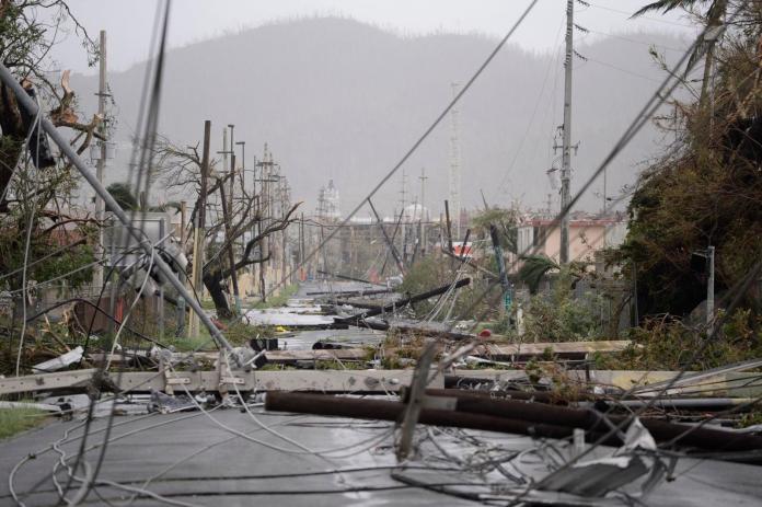 ▲颶風瑪莉亞\\(Maria\\)侵襲美國屬地波多黎各,各地都傳出住宅毀損、路樹倒塌、淹水和土石流災情。(圖/達志影像/美聯社)