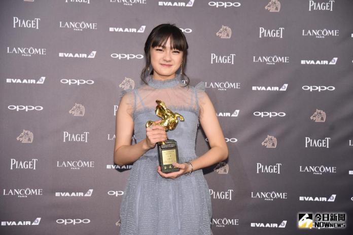 ▲年僅14歲的文淇以《血觀音》奪得最佳女配角獎。(圖/攝影中心提供 , 2017.11.25)