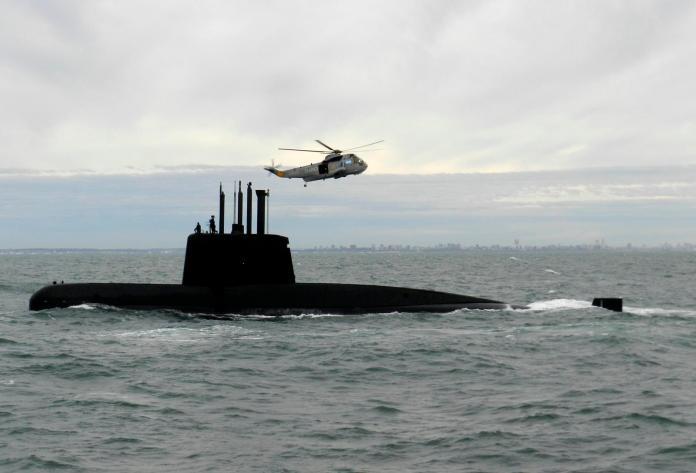 ▲阿根廷海軍「聖胡安號」(San Juan)柴電潛艦。(圖/達志影像/美聯社)