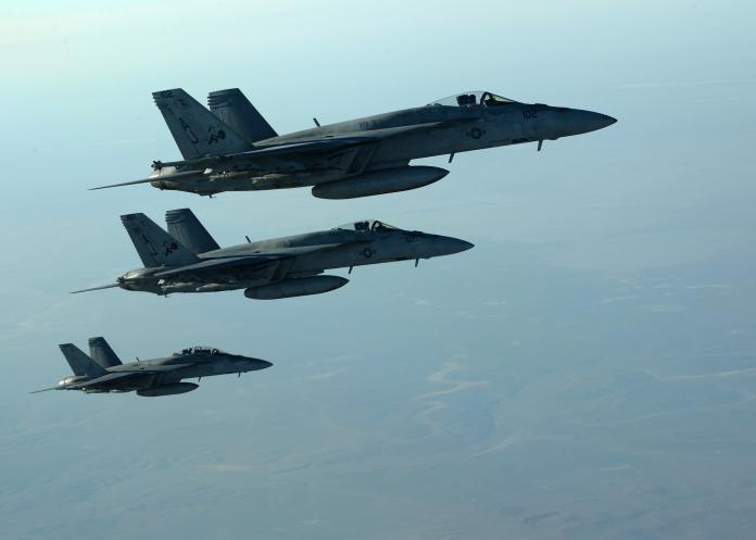 ▲美軍F/A-18E/F超級大黃蜂戰機(圖/美國國防部)
