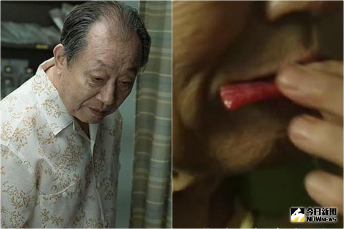 ▲《花漾爺爺》申久電影中生吃豬肉,讓人驚呼。(圖/亮點國際影業 , 2018.1.24)