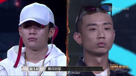 ▲PG ONE(左)、GAI在《中國有嘻哈》榮獲雙冠軍。(圖/翻攝自微博,2017.09.09)