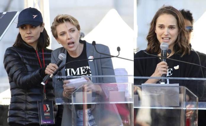 好萊塢女星遊行反性侵 史卡莉、愛黛兒、小珍妮佛上街頭