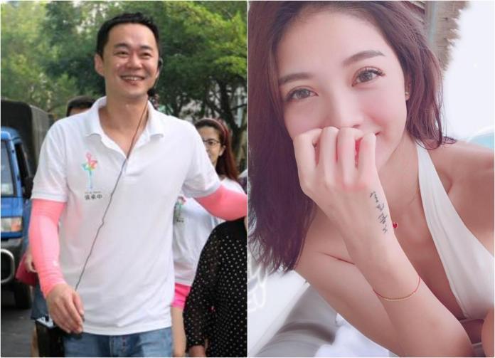 ▲阿中(左)與吳亞馨看電影被抓包。(圖/臉書 , 2018.1.17)