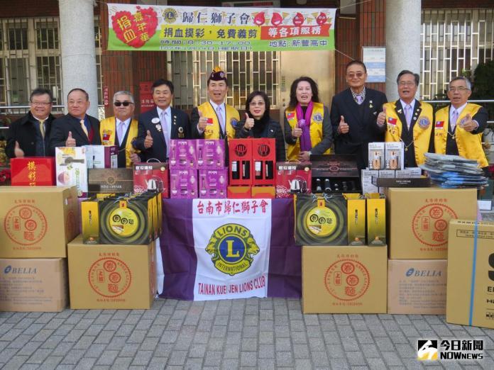 ▲歸仁獅子會愛心捐血活動14日在新豐高中舉行。(圖/記者黃文博攝,2018.01.12)