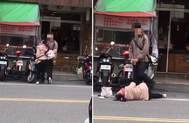▲演八點檔?女友吵架躺馬路哭鬧,他用這招反擊。(圖/翻攝自臉書)