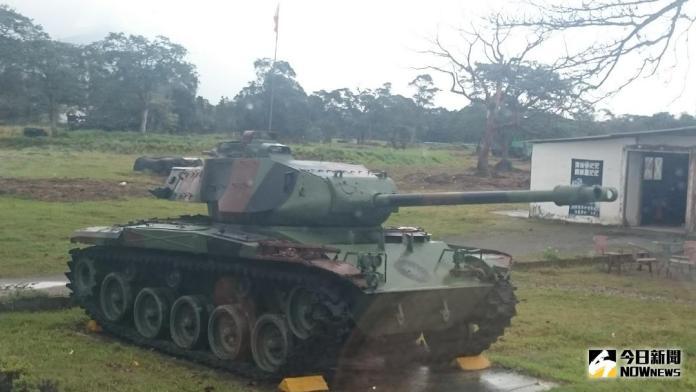▲花防部展示的除役M41A3戰車。(圖/記者呂炯昌攝 )