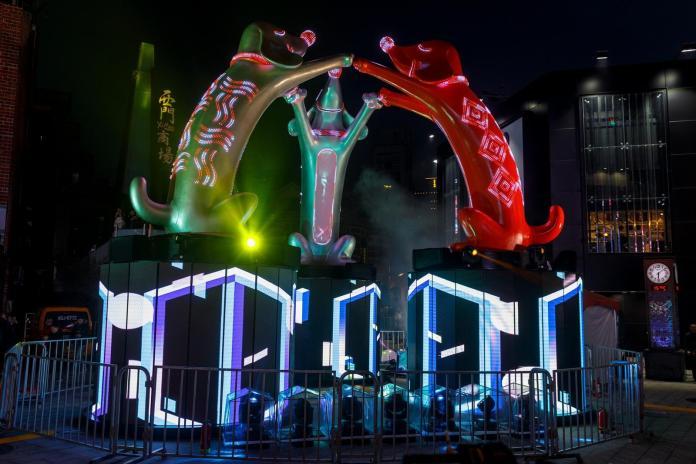 台北燈節周六登場 主燈「幸福魔力狗」搶先預演