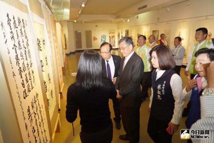 台南市公教美展開展 副市長<b>吳宗榮</b>主持開幕